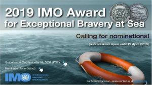 IMO 2019 award for exceptional bravery at sea