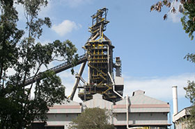 Modern blast furnaces produce more than 10,000 tonnes per day.